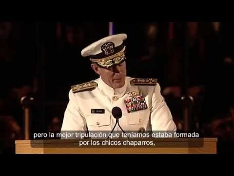 Discurso del Almirante William H. McRaven en University of Texas Austin ...