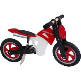 Rood-zwart-witte Kiddimoto crossmotor loopfiets    Steel de show met deze fantastische loopfiets gebaseerd op de offroad crossmotoren.  Met deze loopfiets ontwikkel je razendsnel een goede balans, coördinatie en motoriek waardoor de overstap naar de echte fiets haast vanzelf gaat.  Deze crossmotor is een stoer, orgineel en leerzaam kado waarmee bij ieder kind een lach op het gezicht getoverd wordt.