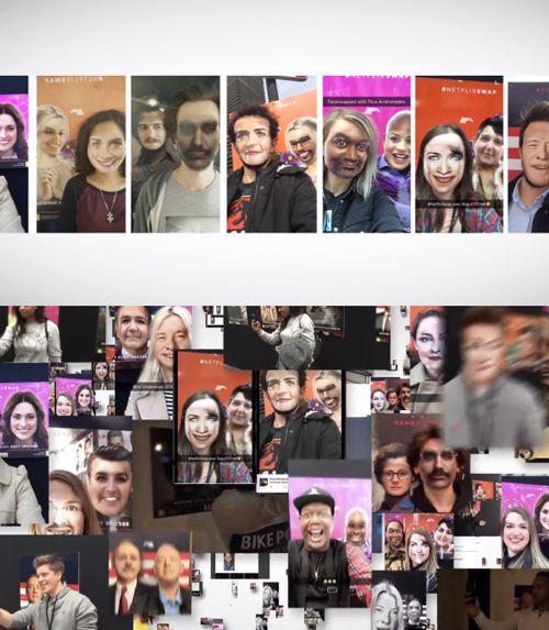 人気キャラクターと顔交換ネットフリックスのSnapchat活用PR#NetflixSwap