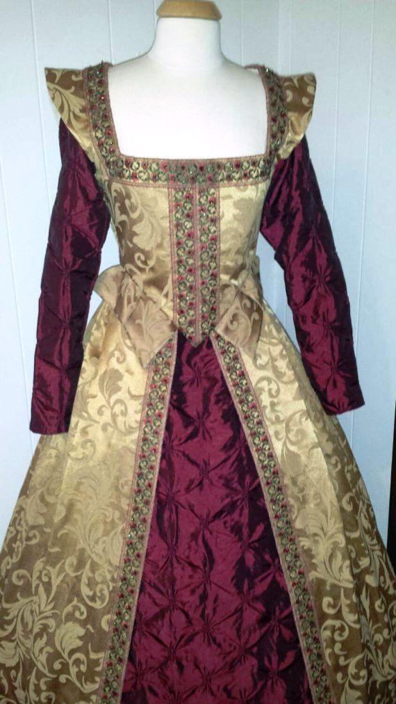Elizabethan Renaissance Gown by welldressedlady on Etsy
