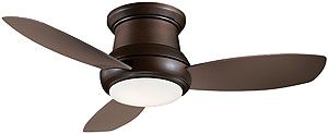 "44"" Concept II Flush Mount Ceiling Fan In Oil Rubbed Bronze 