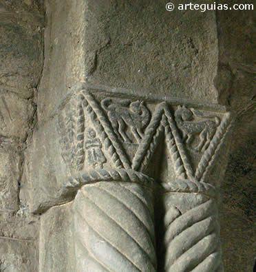 Capiteles de la iglesia de Santa Cristina de Lena