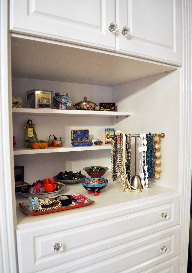 California Closets Jewelry Storage And Shallow Shelves