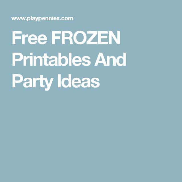 Best 25 Frozen Printable Ideas On Pinterest Frozen