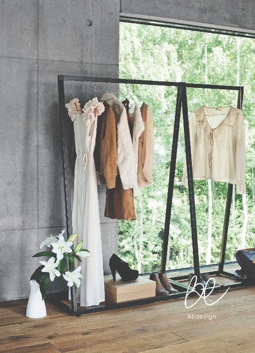 Lume coatrack by BEdesign. This elegant coat rack is suitable to be used alone or combined together for added versatility. The coat rack allows the clothes to be in the center of attention due to its minimalistic look.  © BEdesign