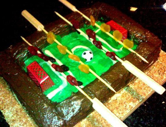 3D Fooseball cake  Kris' birthday cake 2010  best cake i have ever made