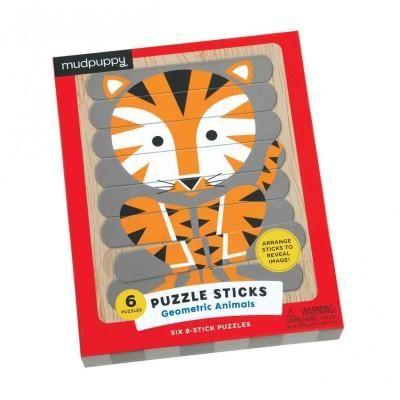 Geometric Animals Puzzle Sticks