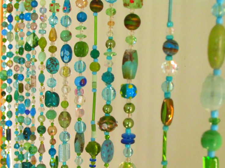 17 best images about beaded curtains on pinterest glass beads beaded curtains and bead curtains - Glass beaded door curtains ...