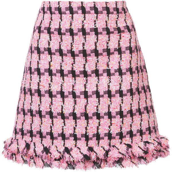 Boutique Moschino embroidered skirt found on Polyvore featuring skirts, bottoms, pink, embroidered skirt, boutique moschino and pink skirt