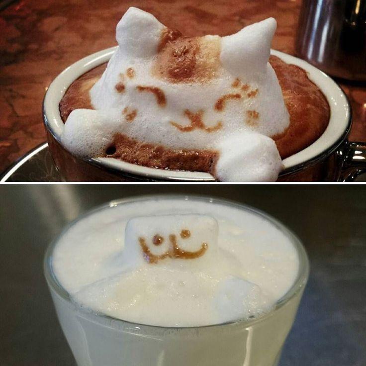 Ожидание/Реальность. Мой котик снизу  #моя_оззи_работа #coffeeart by mila__lu