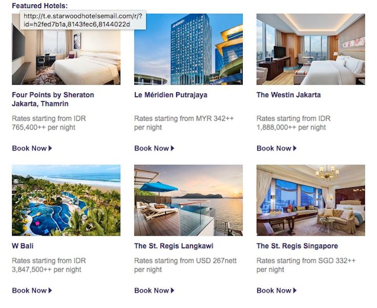 New Offers and Deals: 20% Off South East Asia SPG Hotels  Book by this Saturday to save 20% or more at select hotels and resorts across Southeast Asia. Savor fine dining in Singapore kick back in Bali or enjoy some me-time in Malaysia dont miss out  this hot offer wont last forever.  SPG members enjoy additional savings of 5% on our lowest click here to enroll now.  Terms and Conditions  Offer is valid at participating Starwood Hotels & Resorts in Indonesia Malaysia and Singapore. Please…