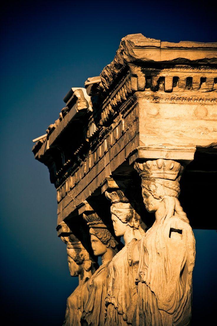 Cariatides, Atenas, Grecia