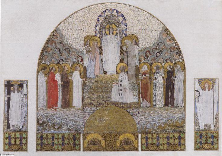 Am Steinhof Eglise, conception de mosaïque pour le maître-autel, encre de Koloman Moser (1868-1918, Austria)