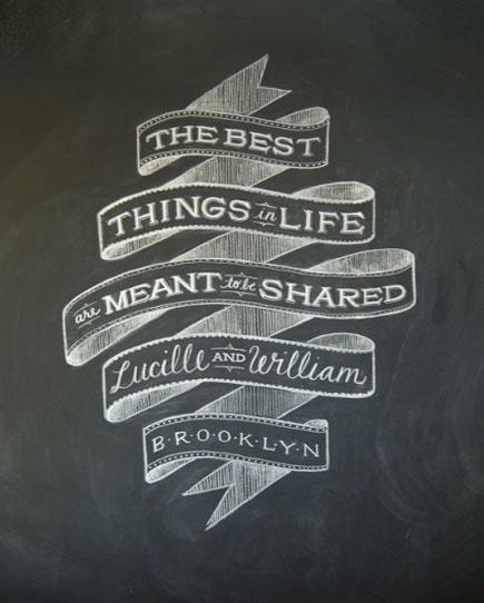 Dana Tanamachi chalkboard design