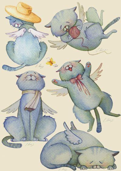 Cats by Starfeather.deviantart.com