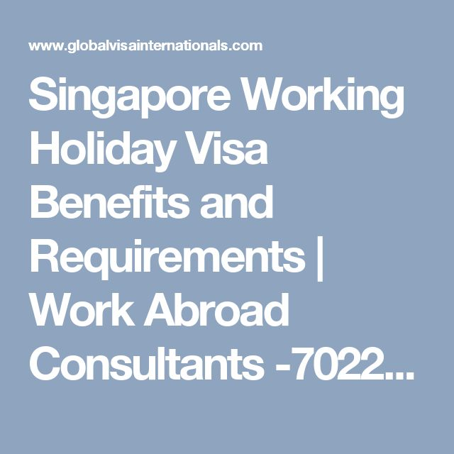 Singapore Working Holiday Visa Benefits and Requirements  | Work Abroad Consultants -70222 13466