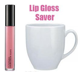 Simple Lip Gloss Saver!  Favorite lip gloss almost gone? Make sure you get to use every last drop!    Place your lip gloss upright into a mug of WARM water.  Let sit for 10 minutes.    Voila! There is no more lip gloss in your container than before. Magic? Nah. The warm water heats the lip gloss clinging to the inside of the container causing it to drip down to the bottom. You've just saved yourself from throwing away perfectly good lip gloss. yay!: Favorite Diy, Makeup Beauty Tips, Post, Article, Makeup Tips, Place, Contouring Makeup, Makeup Contouring, Diy Makeup