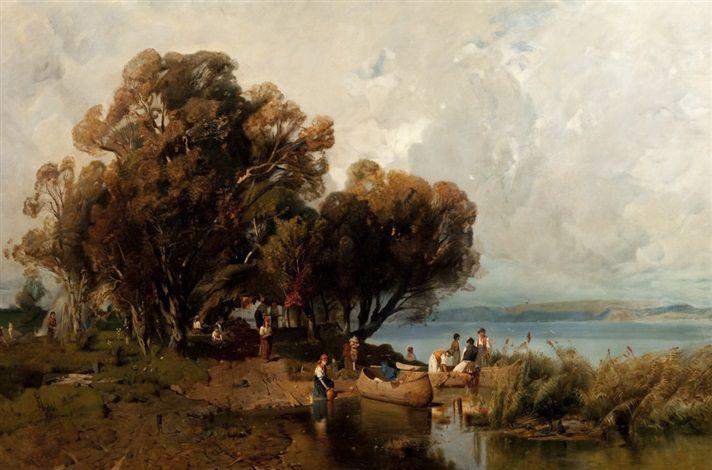 Halász kunyhója a Balaton déli partján a Mészöly Géza