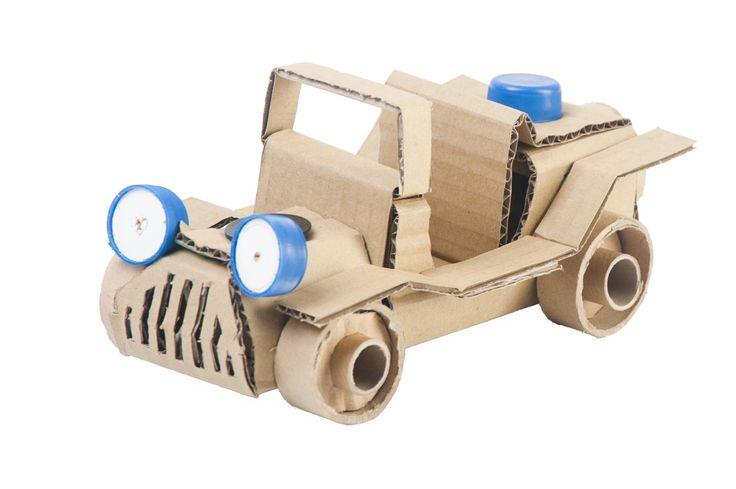 DIY Cardboard models - explore your imagination with AKTO - a unique way to enjoy recycling!