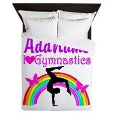 SUPER STAR GYMNAST Queen Duvet Awesome personalized Gymnastics designs available on Tees, Apparel and Gifts. http://www.cafepress.com/sportsstar/10114301 #Gymnastics #Gymnast #WomensGymnastics #Gymnastgift #Lovegymnastics #PersonalizedGymnast