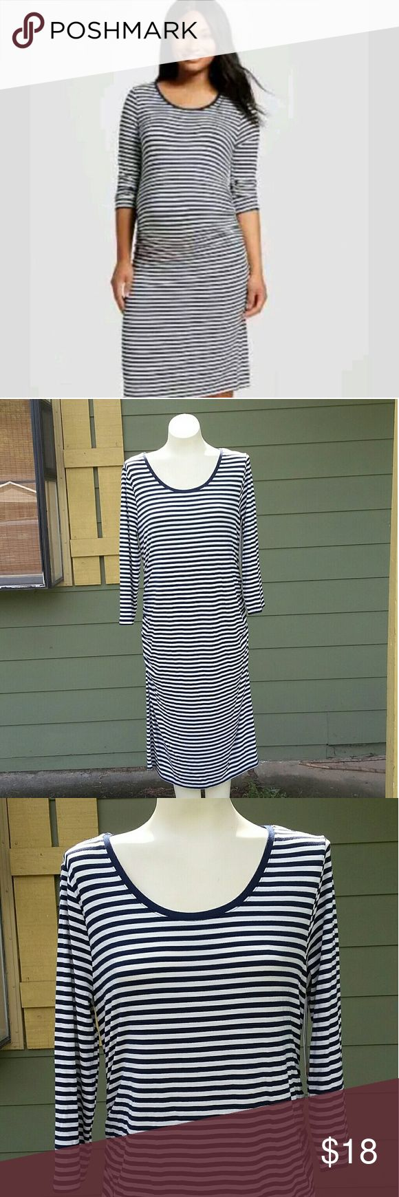 Navy & Cream Maternity Dress NWT ~ Navy & Cream striped maternity dress Liz Lange for Target Dresses Midi