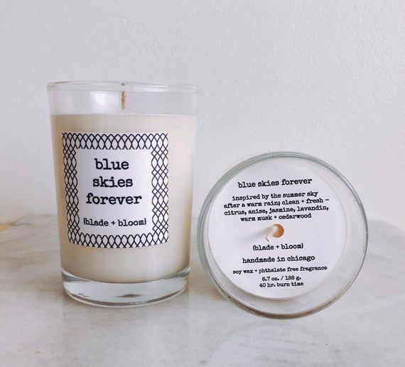 Hand Poured Jasmine And Musk Scented Soy Wax Candle