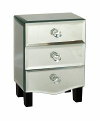 Sil 3 Drawer Mirror Jewellery Box A mirrored chest of drawers style jewellery box. Approximately 17 x 12 x 10cm in size.