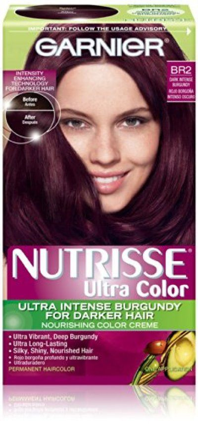 Garnier Hair Color Nutrisse Ultra Color Nourishing Color Creme, Br2 Dark Intense Burgundy