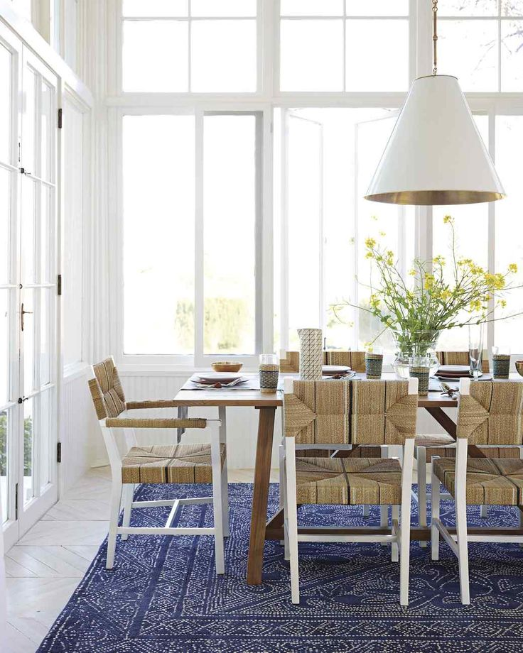 Brighten up your floors dining room decorating ideas martha stewart living a brightly colored