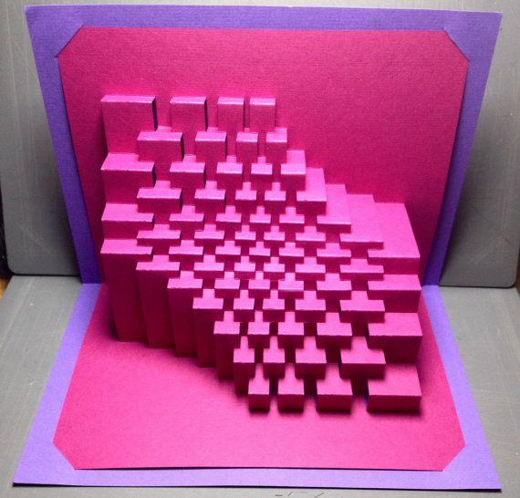 Trochoid : kirigami pop-up paper sculpture
