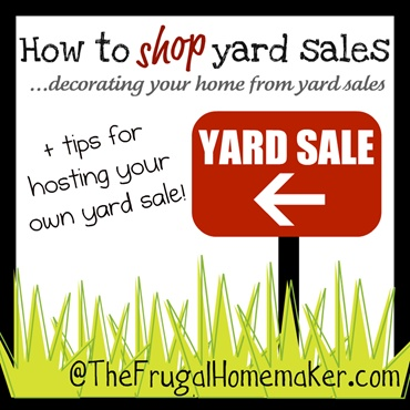 I love shopping yard sales - want to know why?? :)