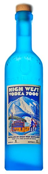 Vodka 7000' the only vodka in the world that's made from oats. - 7000' is the exact elevation of High West Distillery's bar in Park City, Utah.