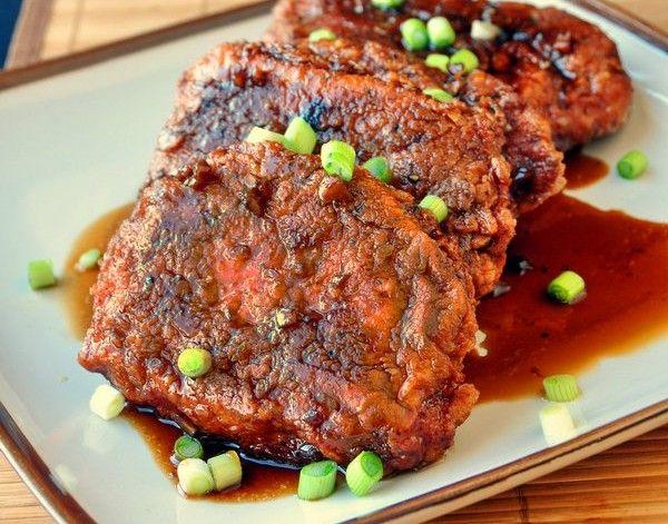 Crunchy Garlic Honey Pork -- Amazingly good pork!