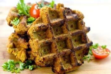 Grilled Waffle Iron Falafel