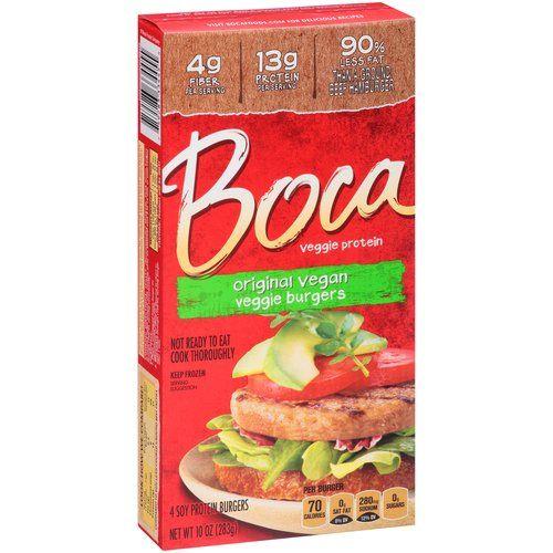 Boca Original Vegan Soy Protein Burgers, 4 ct