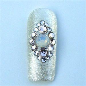 Real #Swarovski Crystal Nails - How-To Get this #Nailart Look