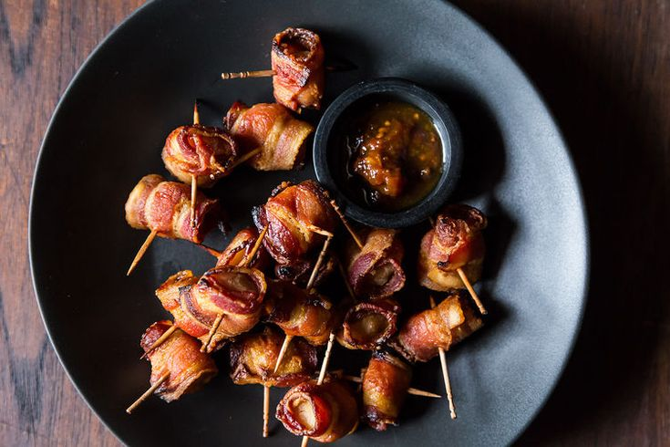 The Elegant Hors d'Oeuvre's Bacon-Wrapped Water Chestnuts recipe: An easy crowd pleaser.  #food52