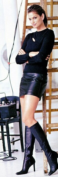 Cum on boots cindy crawford