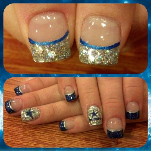 Dazzling Dallas Cowboy Nails My Nail Creations Pinterest