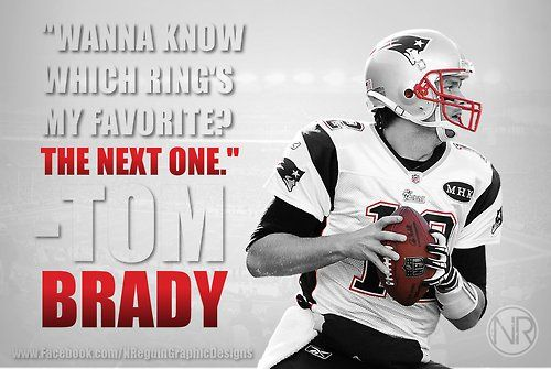We hope Tom Brady gets his favorite ring. Then another more favorite, and another… nflart:  Tom Brady
