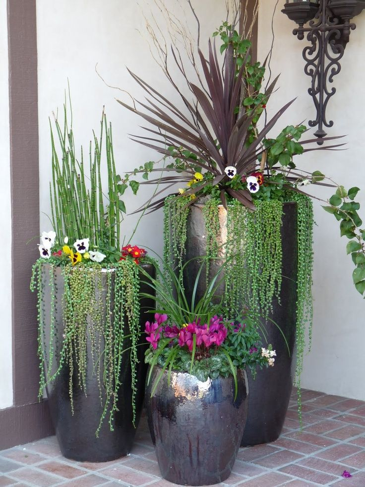 curb appeal and function in front yard outdoor potted plantspot - Tall Potted Plants