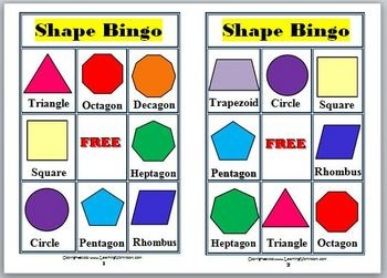 Worksheets Different Shapes And Names 25 best ideas about 2d shapes names on pinterest preschool bingo game