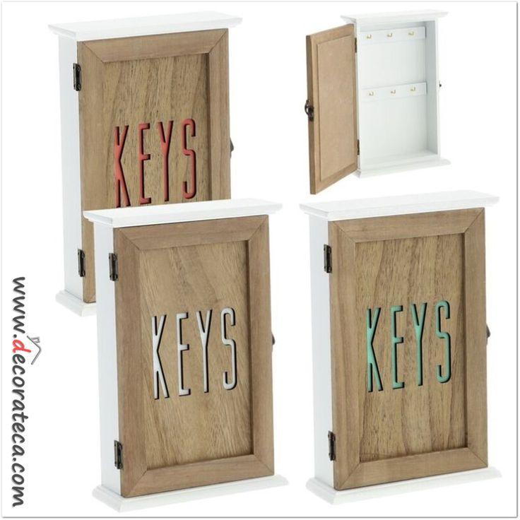 Cuelga llaves de madera summer www decorateca com for Perchas para colgar llaves