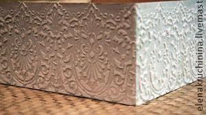 Создание объемных орнаментов/узоров с помощью шпатлевки