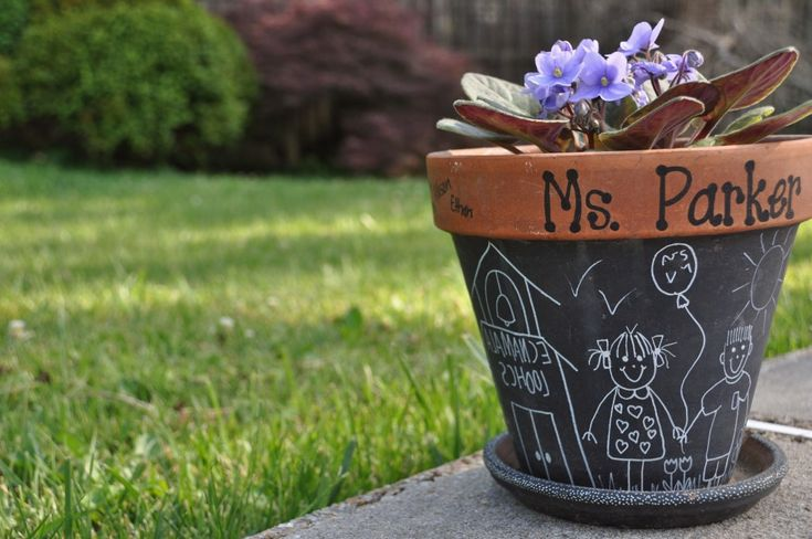 Teacher's Chalkboard Planter - 5 Great Thank You Gifts for Teachers