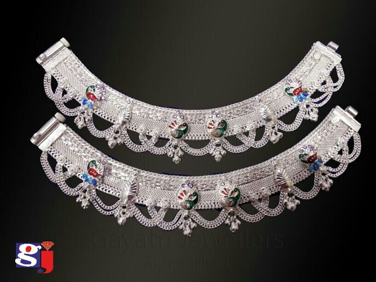 Fancy payal , traditional silver jewellery , #anklet #payal  #payjeb #wedding #fashion #style by #gj #gjsilver