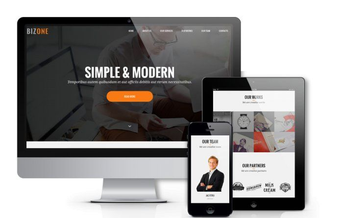 BizOne - awesome #onepage #Drupal theme perfect for #portfolio,small business or personal sites.