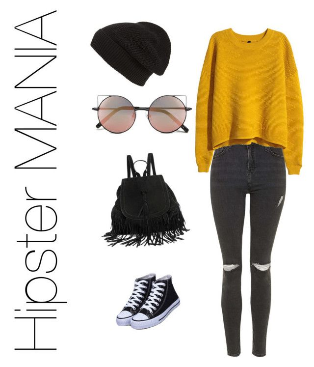 """""""Hipster MANIA"""" by carolarepetto on Polyvore featuring Topshop, H&M, Linda Farrow and Phase 3"""