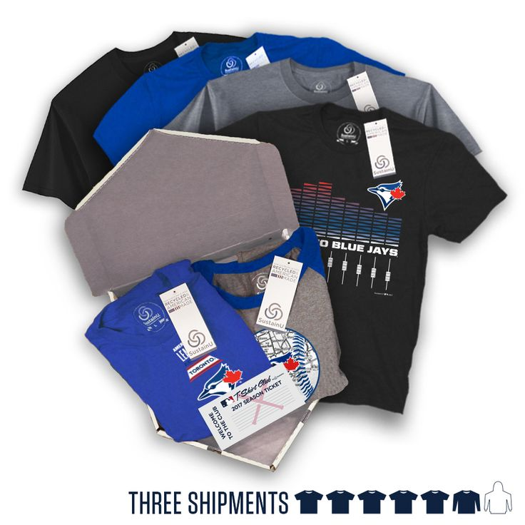 "@torontobluejays - ""The Triple"" Package #BlueJays #TorontoBlueJays #BlueJaysBaseball #Toronto #Jays. Visit our website to learn more about MLB T-Shirt Club! (https://mlbtshirtclub.com/)"