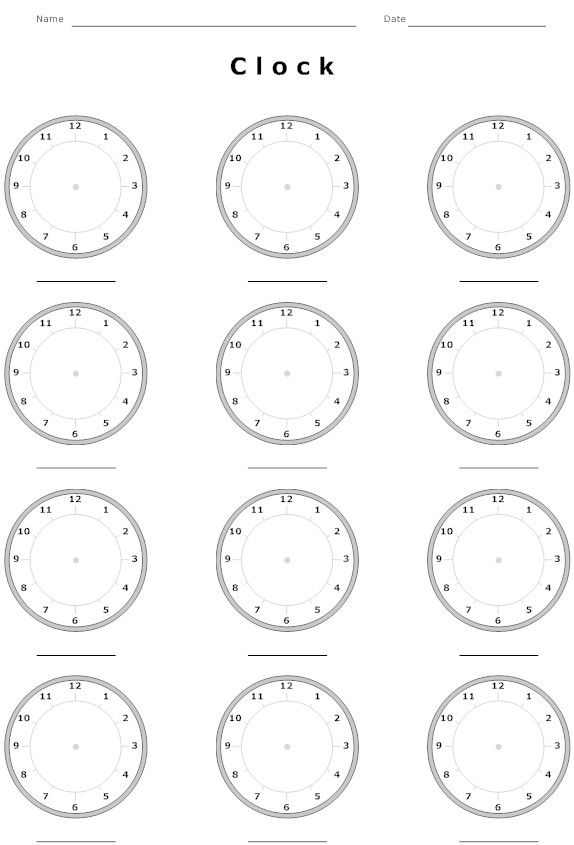 Worksheets Clocks Worksheets clock worksheets and on pinterest